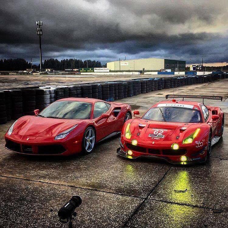 Ferrari 488 GTB And Ferrari 488 GTE